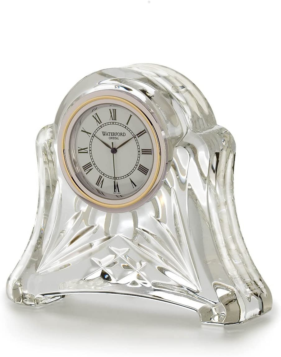 Crystal Desk Clocks Small Beautiful Waterford Heritage Small Abbey Clock