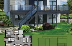 Custom Contemporary Home Plans New Plan Pm 2 Bed Modern House Plan For Sloping Lot