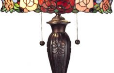 Dale Tiffany Lamps History Beautiful 27 Inchh Zenia Rose And Dragonfly Design 2 Light Table Lamp Fieldstone