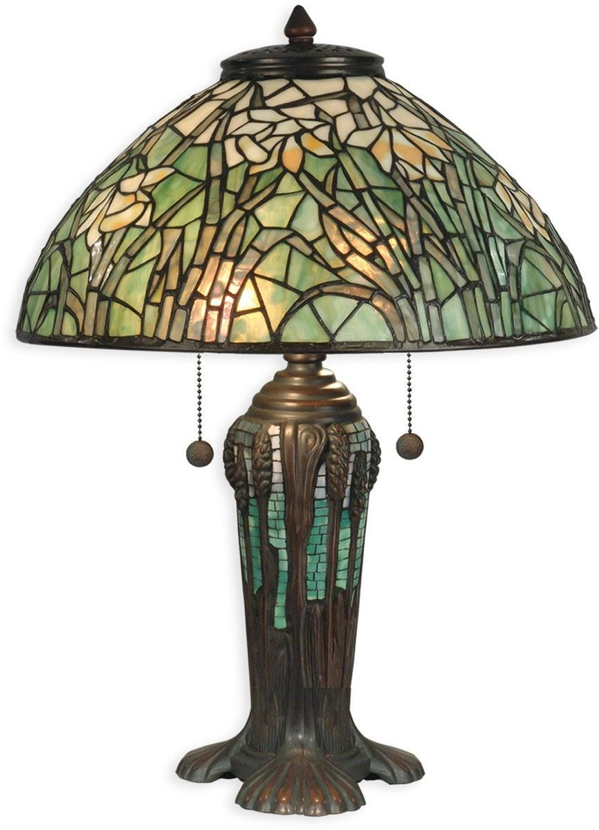 """Dale Tiffany Lamps History Inspirational 0 22""""h 2 Light Tiffany Table Lamp Antique Bronze"""