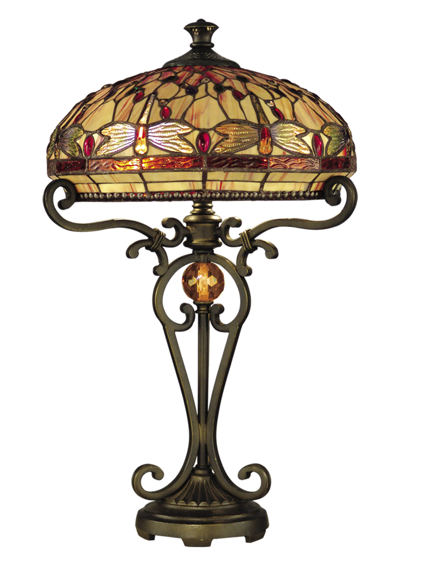 Dale Tiffany Lamps History Unique Details About Dale Tiffany Tt Victorian 2 Light Dragonfly Table Lamp Gold