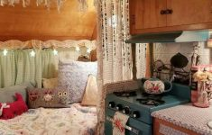 Decorating A Camper Interior Beautiful 44 Vintage Camper Decor Transformed Into A Cozy Place 19
