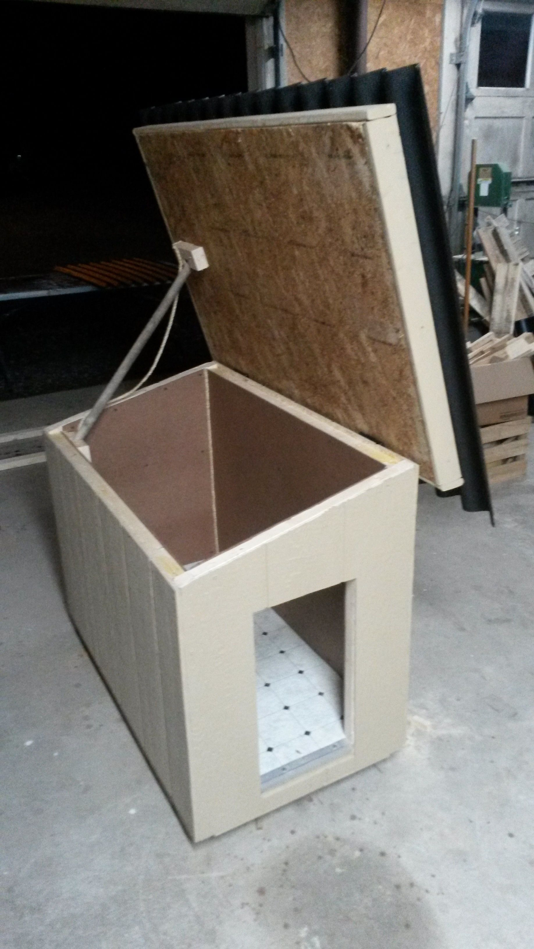 Dog House Plans with Hinged Roof Beautiful Insulated Hinged Roof for Easy Clean Out with Images