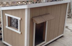 Dog House Plans With Hinged Roof Best Of Home Made Dog House My Husband Built With A Sliding Window