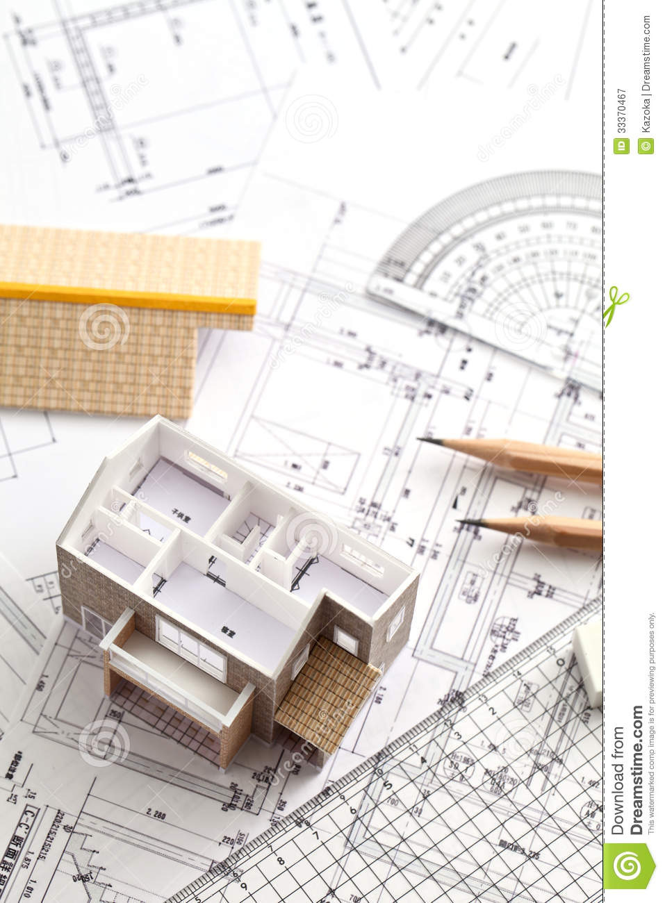 Draw Own House Plans Free New House Design Drawing Stock Image Image Of Modern