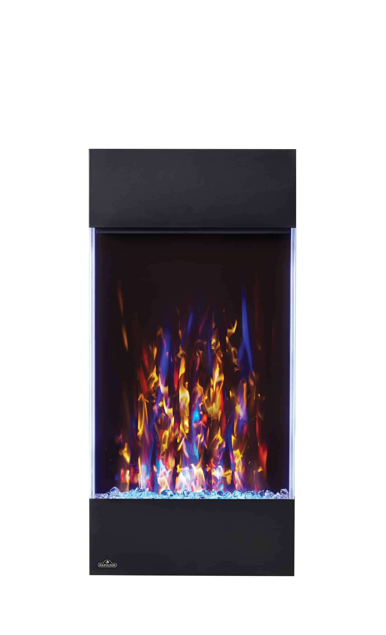 napoleon allure nefvc32h vertical 32 wall hanging fireplace