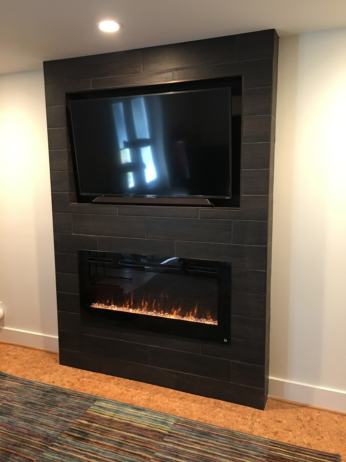 sideline45 45 recessed electric fireplace