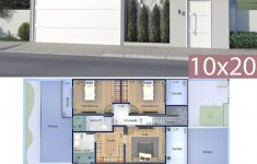Free House Designs And Floor Plans Unique Home Design Plan 10x20 Meters