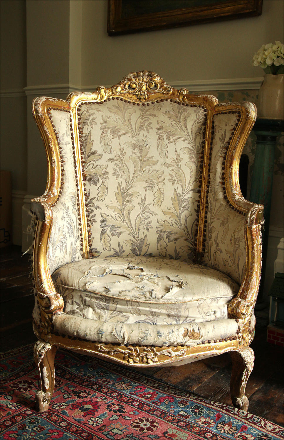 a french louis xv style giltwood fauteuil armchair c 1900 main size3