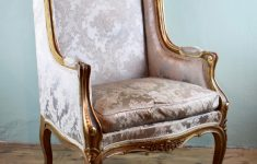 French Antique Furniture Louis Xv Luxury Antique French Carved Giltwood Wingback Chair In Louis Xv