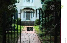 Gates For House Entrance Elegant Iron Gate House Entrance Stock Photo Image Of Tree Door