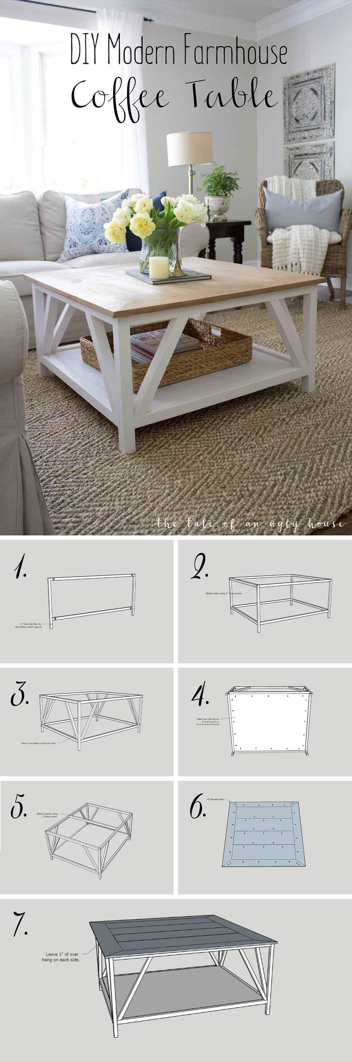 farmhouse coffee table ideas modern