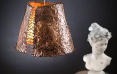 Hammered Copper Light Fixtures Inspirational Ceiling Pendant A Feminine Corset Shaped Lamp