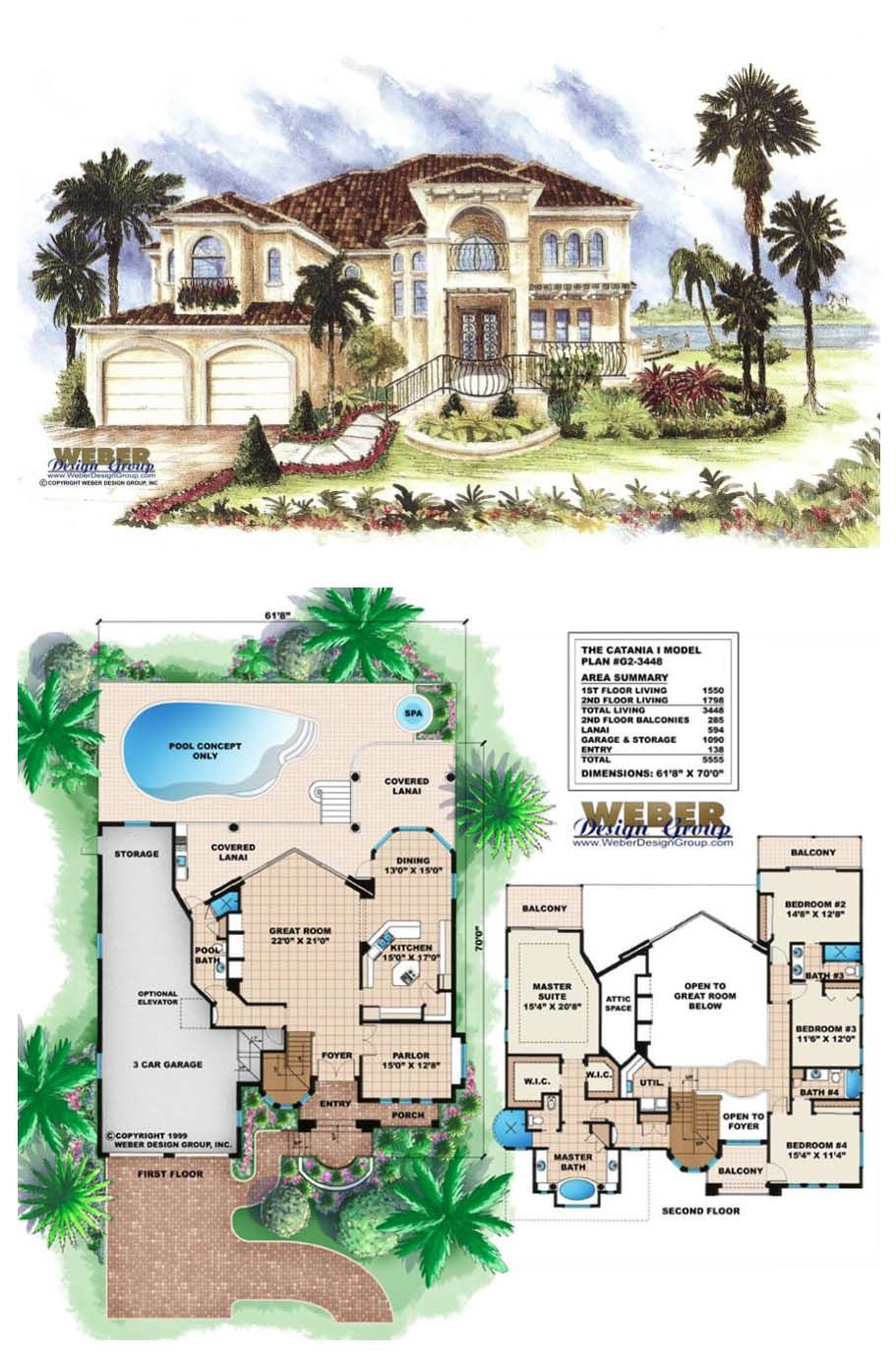 High End House Plans Lovely Catania I House Plan