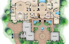 High End House Plans Luxury Mediterranean Style House Plan 6 Beds 8 5 Baths Sq Ft Plan 27 279