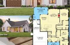 Home Plans With Vaulted Ceilings Luxury Plan Am 3 Bed New American House Plan With Vaulted