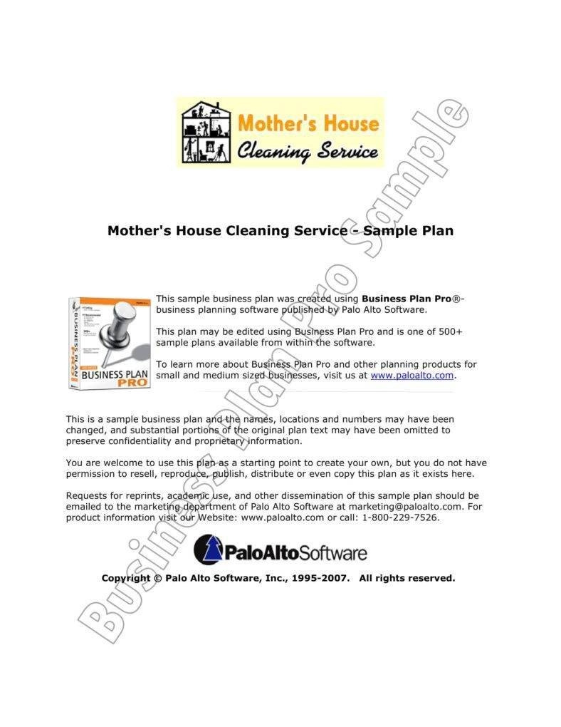 Cleaning Service Sample Proposal 788x1020