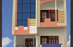 House Model Front View Awesome Smt Leela Devi House 20 X 50 1000 Sqft Floor Plan And 3d