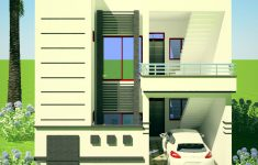 House Model Front View Luxury 25x45 House Plan Elevation 3d View 3d Elevation House