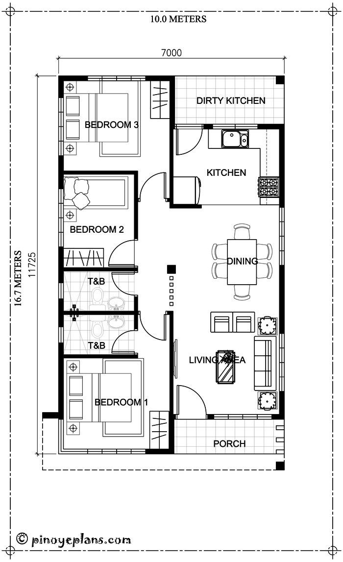 House Plans 2 Story 3 Bedrooms 2020