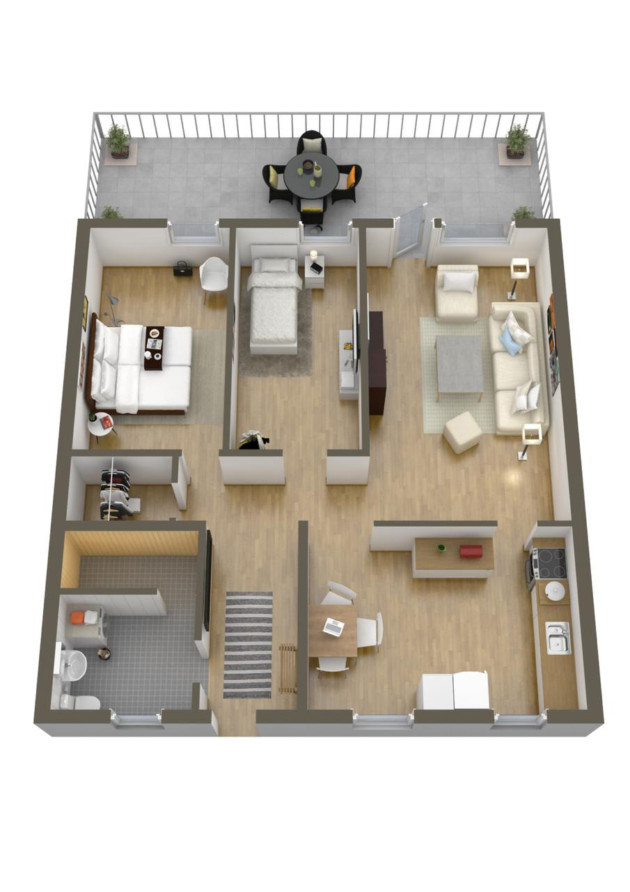 House Plans and Layouts Awesome 40 More 2 Bedroom Home Floor Plans
