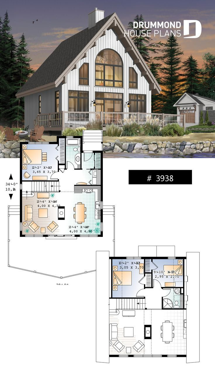House Plans and Layouts Awesome A Frame Wood Cabin House Plan with Mezzanine and Open Floor