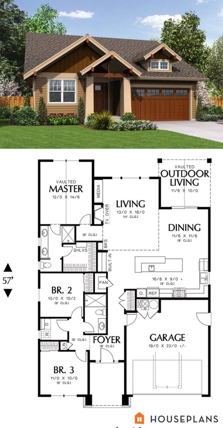 House Plans Craftsman Style Bungalow 2021