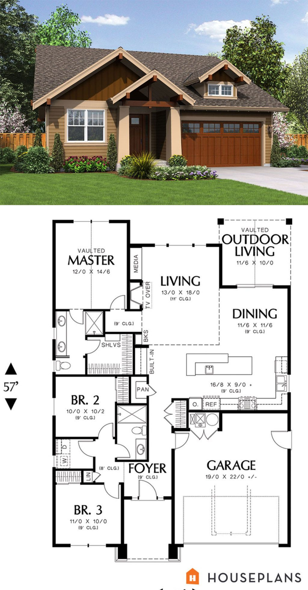 House Plans Craftsman Style Bungalow New Craftsman Style House Plan 3 Beds 2 Baths 1529 Sq Ft Plan