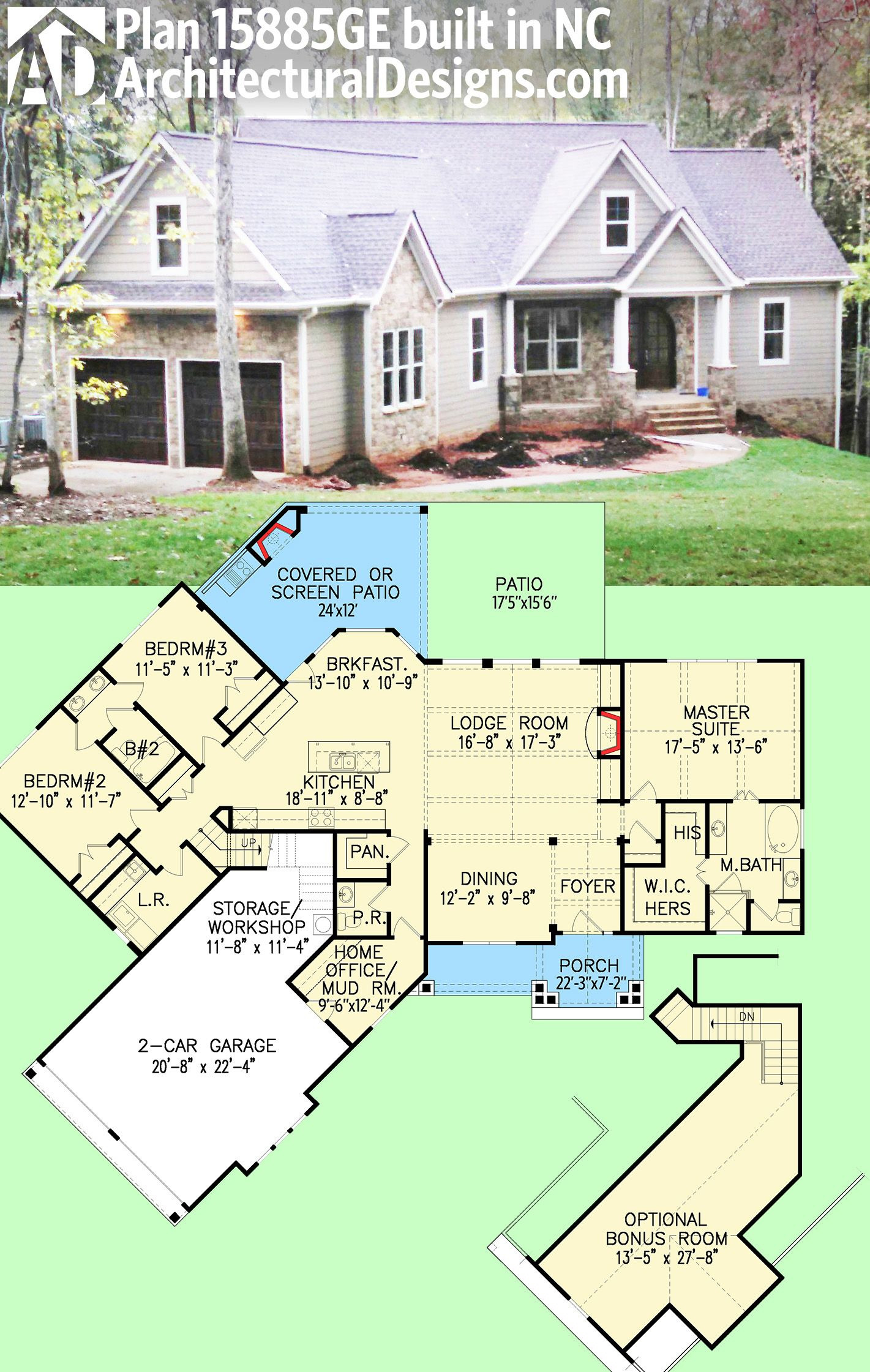 House Plans north Carolina Unique Plan Ge Affordable Gable Roofed Ranch Home Plan