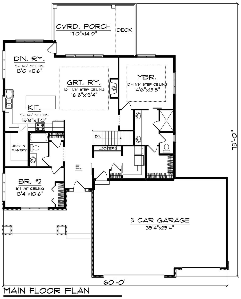 House Plans Ranch Style with Basement Awesome Ranch Style House Plan 2 Beds 2 Baths 1736 Sq Ft Plan 70