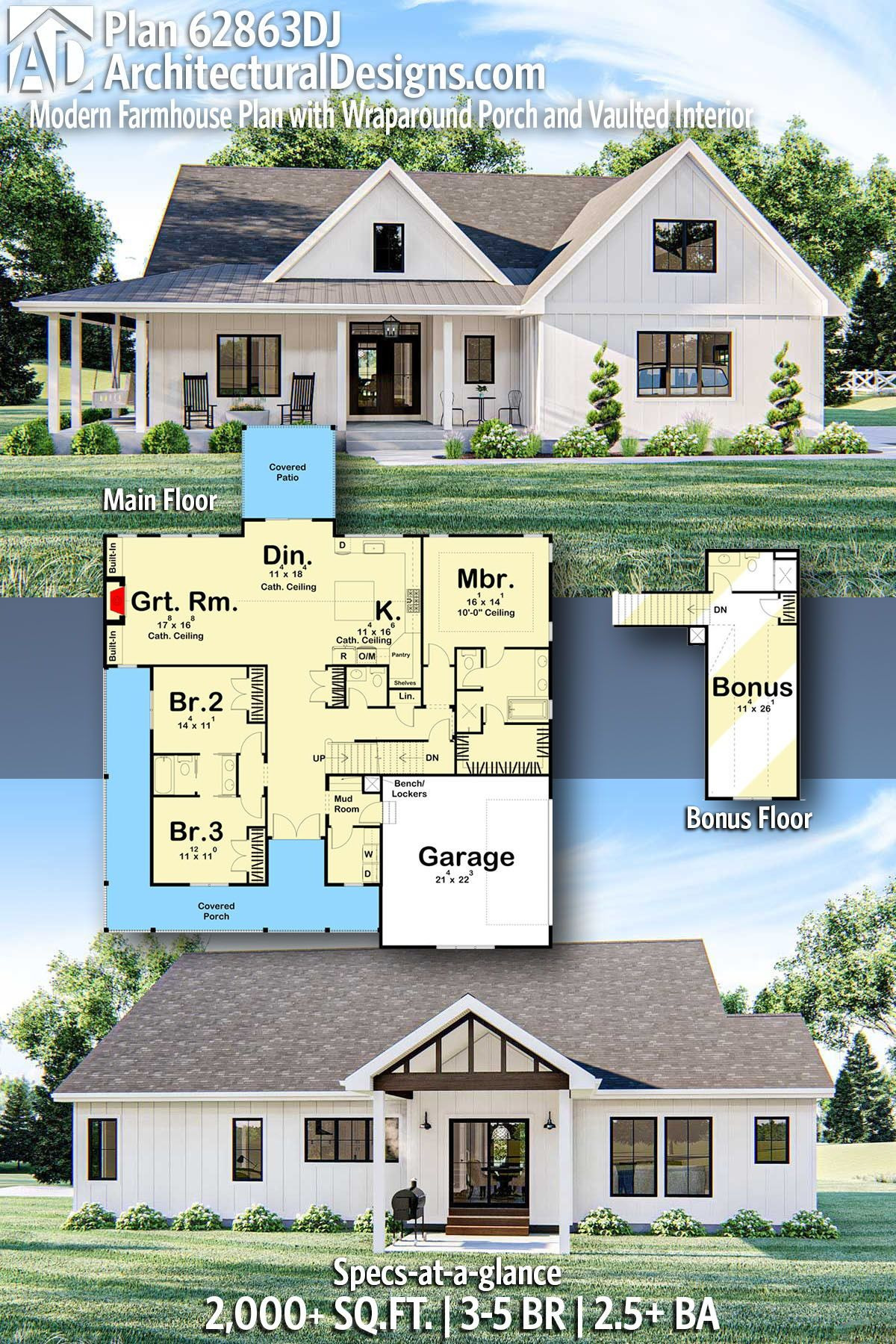 House Plans with Basements and Wrap Around Porch Best Of Plan Dj Modern Farmhouse Plan with Wraparound Porch