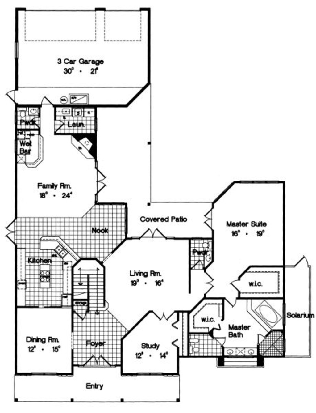 House Plans with solarium Best Of Colonial Style House Plan 3 Beds 2 5 Baths 3485 Sq Ft Plan 417 387