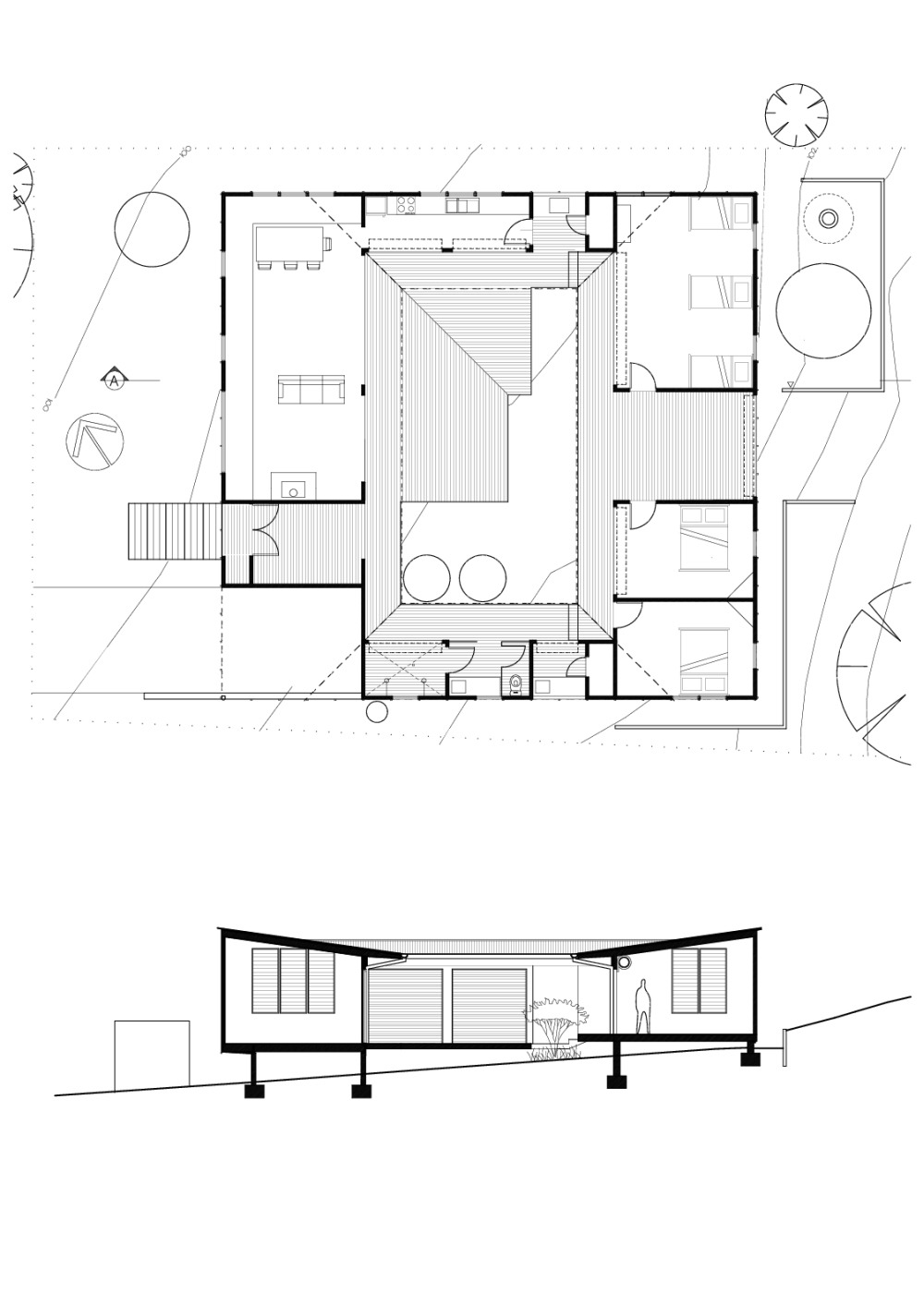 Houses with Courtyards Design Plans Beautiful Design Inspiration the Modern Courtyard House Studio Mm