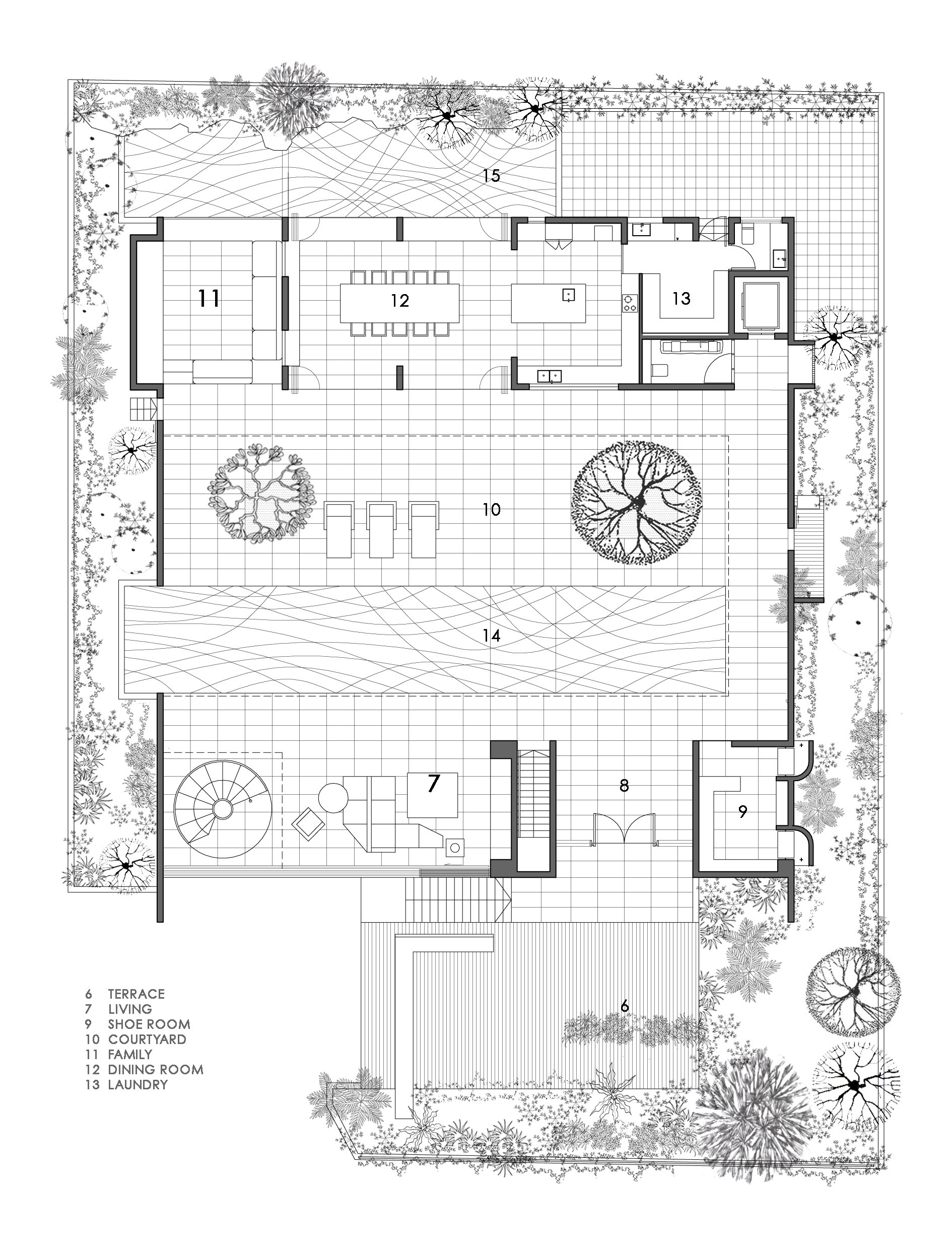 5202e978e8e44ebcd c the courtyard house formwerkz architects first floor plan