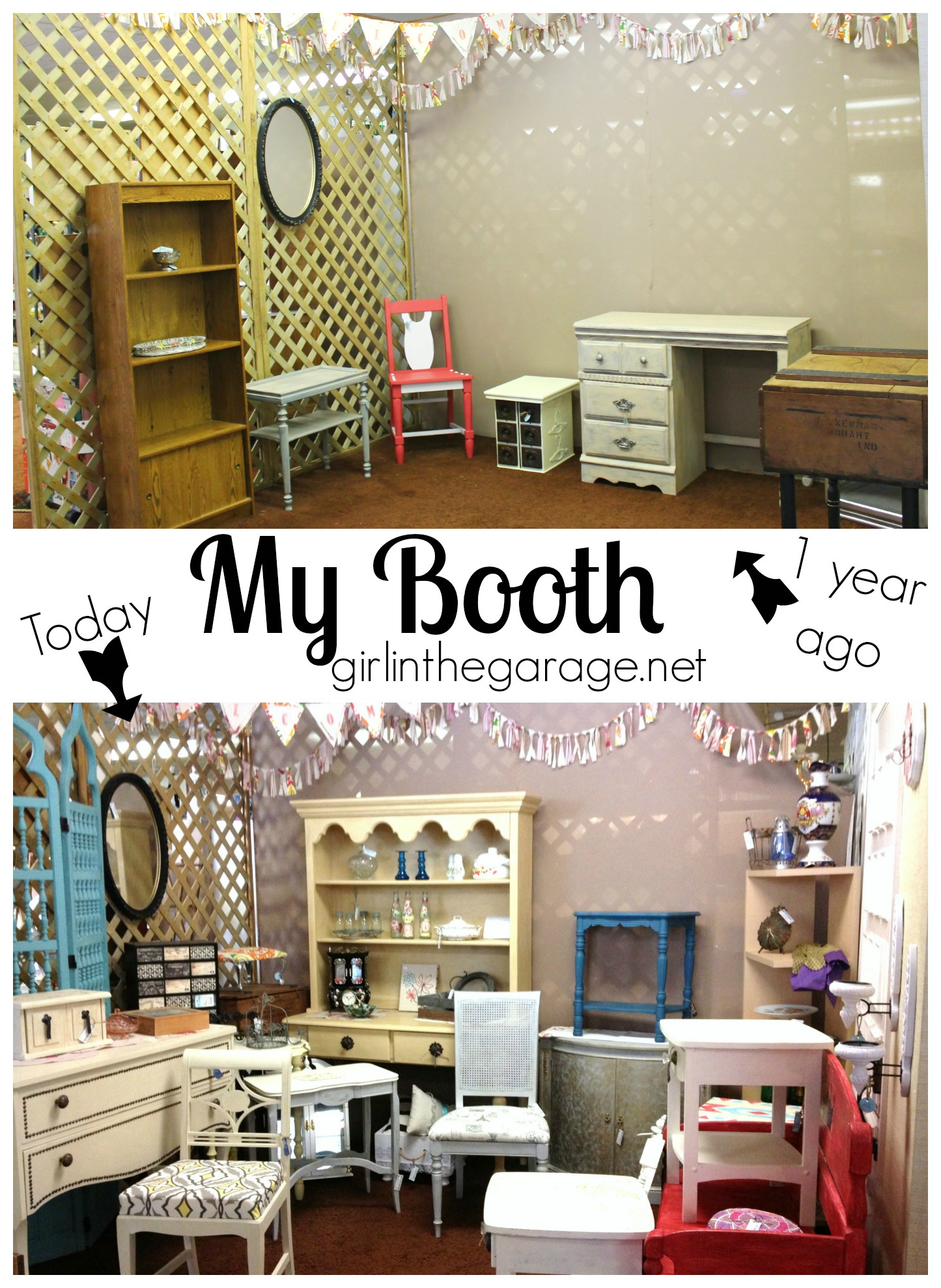 my booth before after one year collage