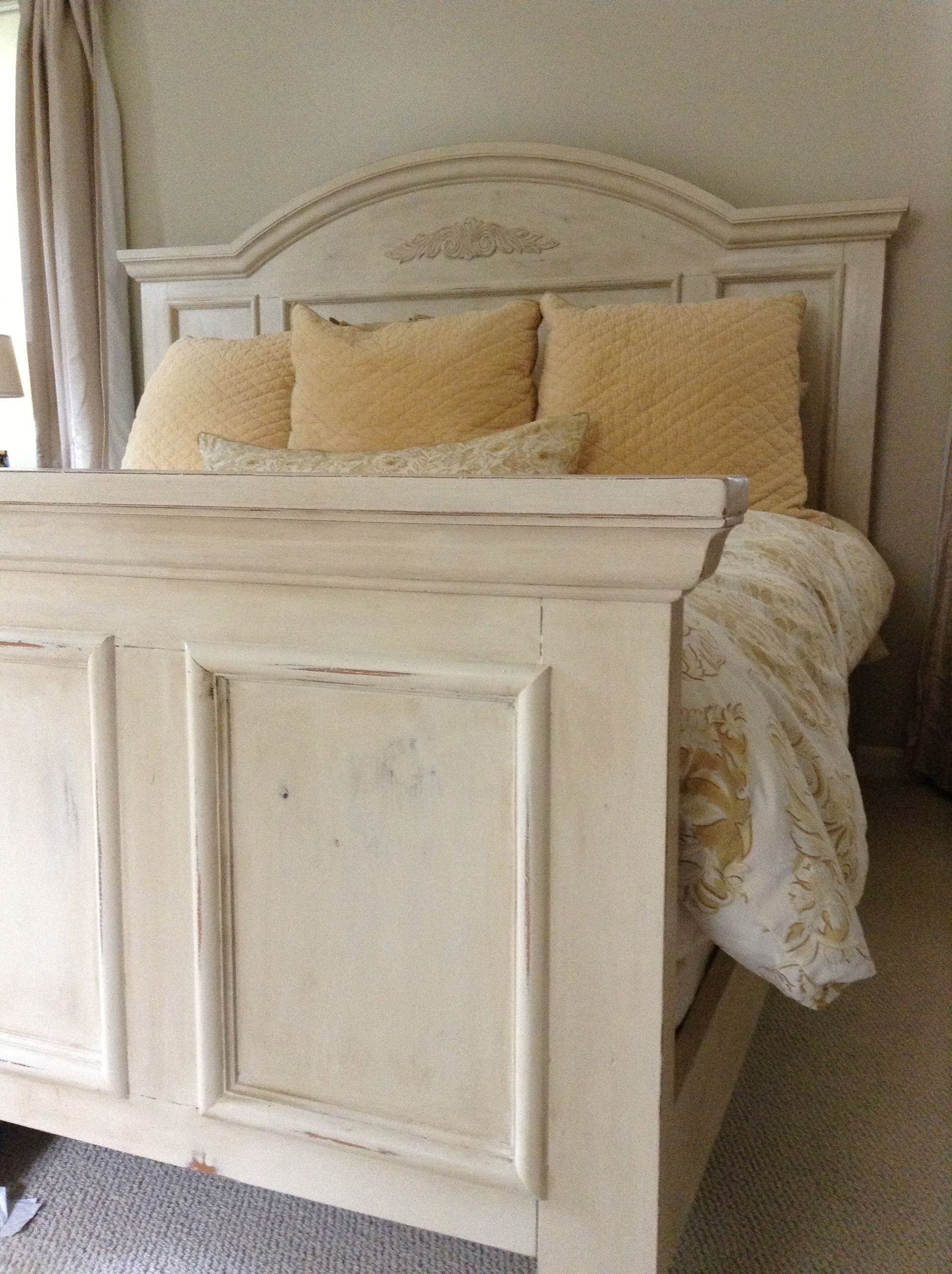 How to Paint Bedroom Furniture Antique White Best Of Bed Painted with Annie Sloan Old Ocre Chalk Paint