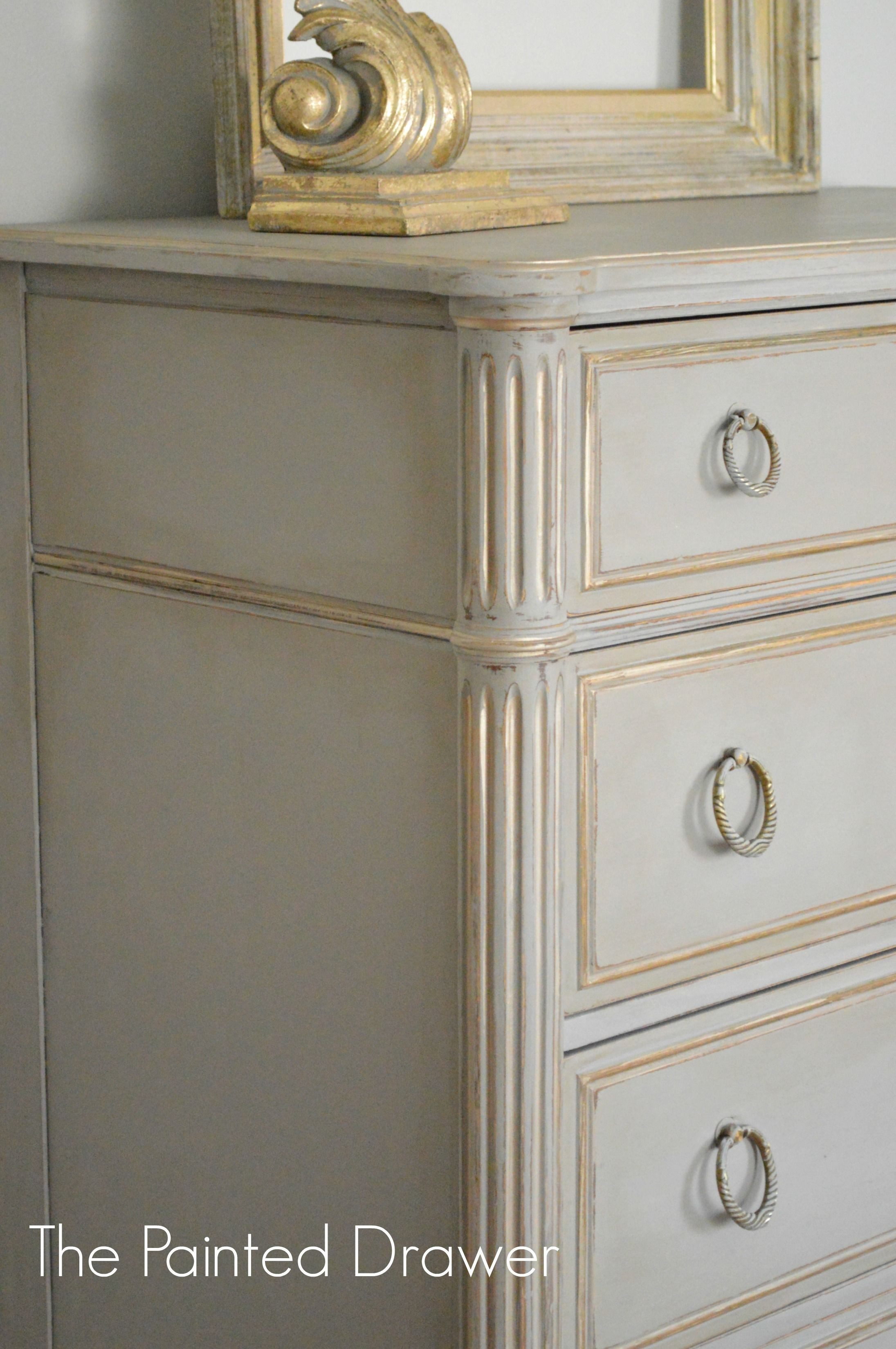 How to Paint Furniture Antique White New before and after A French Linen and Gold Vintage Chest