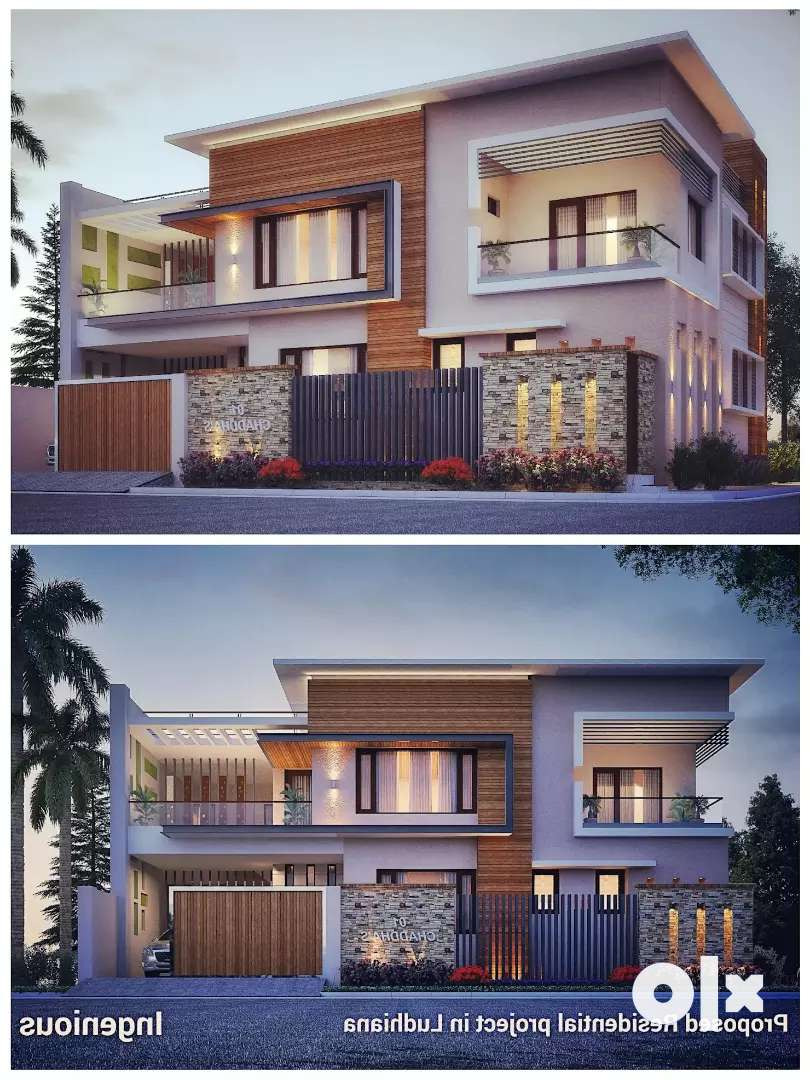ultra modern duplex house with 1 family rent block iid