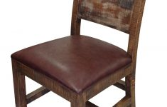 International Furniture Direct Antique Multicolor Elegant 900 Antique Solid Wood Chair With Bonded Leather Seat