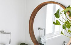 Kirkland Decorative Wall Mirrors Unique Round Decorative Wall Mirror Wood Barrel Frame Threshold