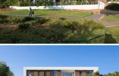 L Shaped Modern House Fresh Sliding Glass Walls Give This House Easy Access To The