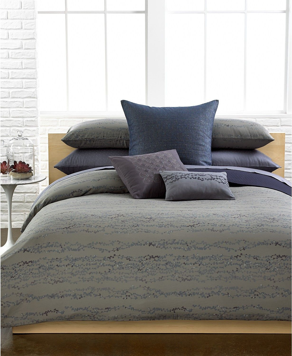 Macy's Bed Sheets Reviews Lovely Calvin Klein Last Act Chambray Sparkle European Sham