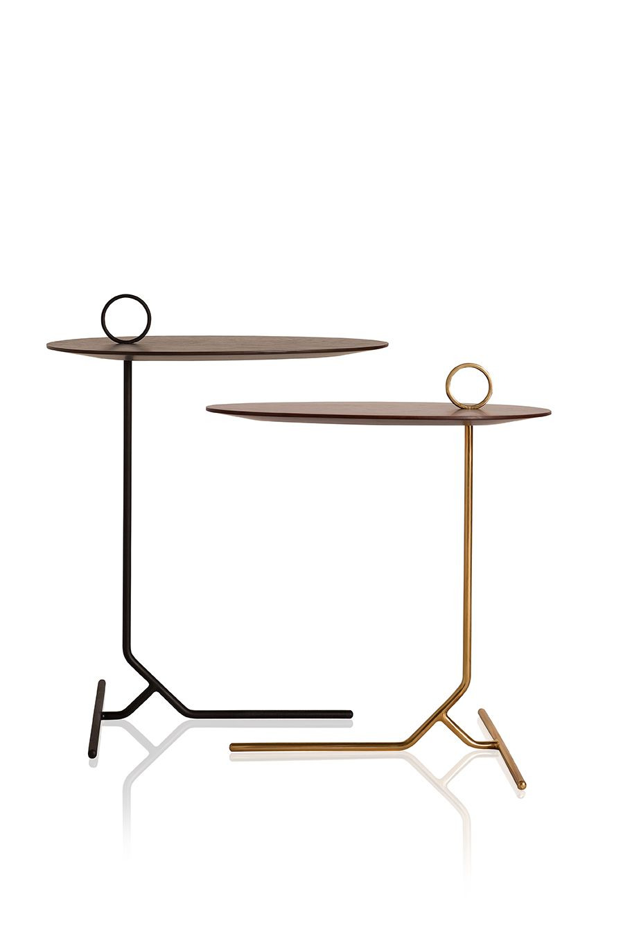 Mdf Table top Finish Beautiful Dimension 35x51x50 55 Material Carbon Frame with Brass