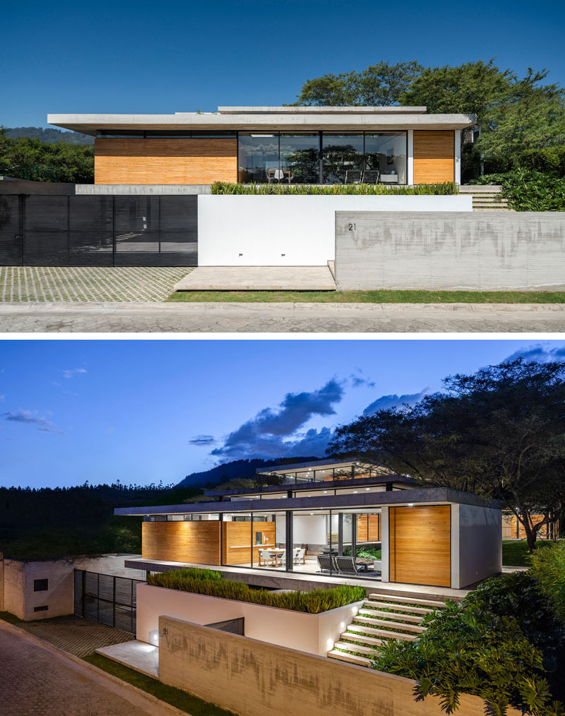 modern concrete wood glass house architecture 1210 02