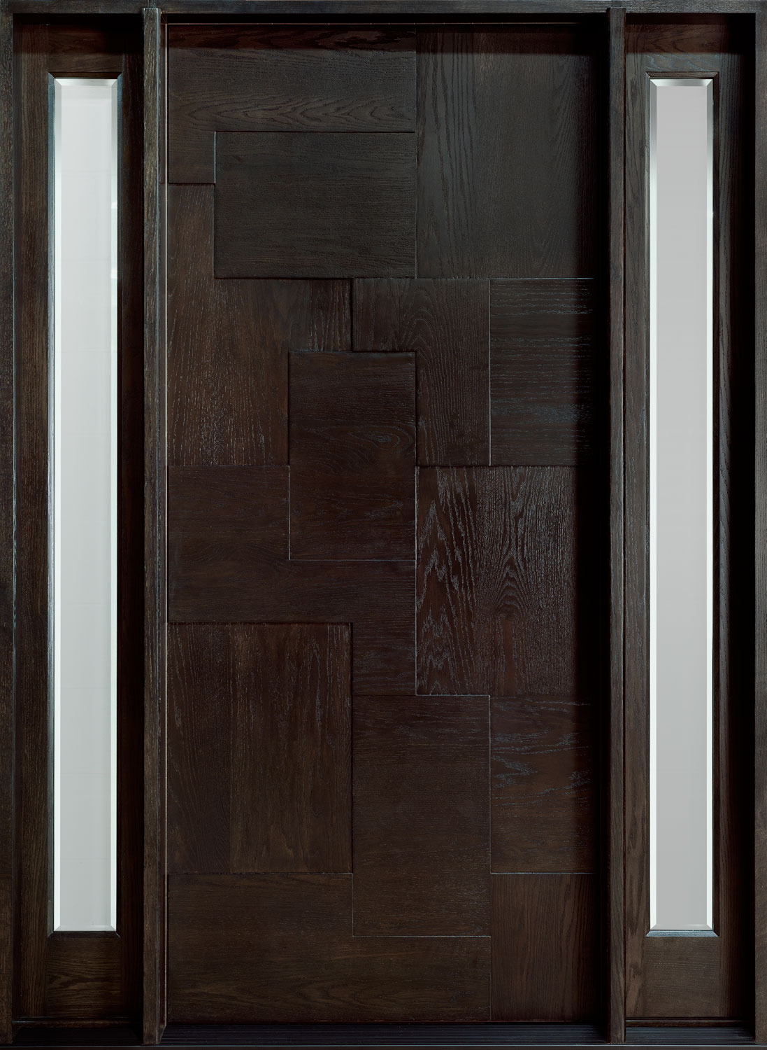 Wood Door Door=DB 002 2SL CST Mahogany Espresso&Type=Front&cs=Custom&DoorSeries=Modern