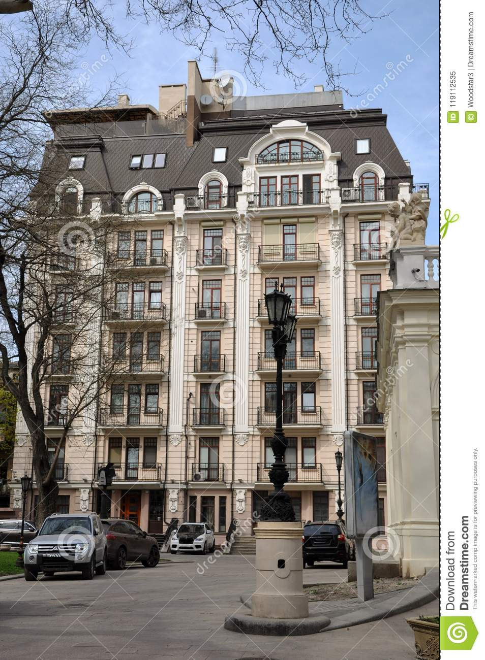 modern houses one most beautiful new buildings next to theater opera ballet quiet cozy area the palais royal image