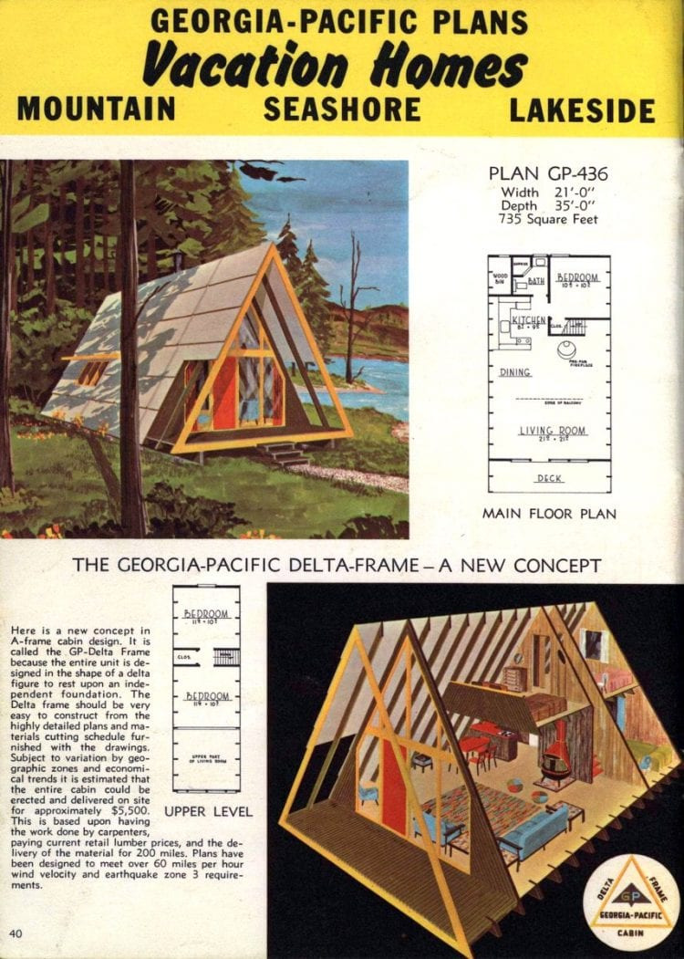 Mountain Vacation House Plans New A Frame House Plans for Second Homes & Family Vacation