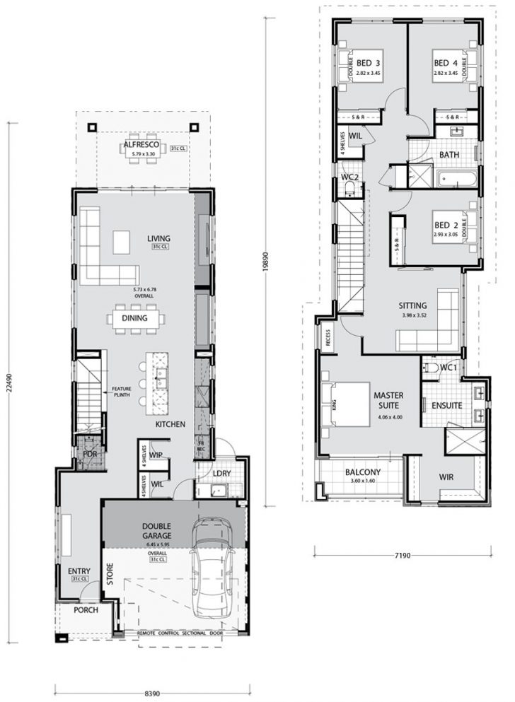 Narrow Lot One Story House Plans 2020
