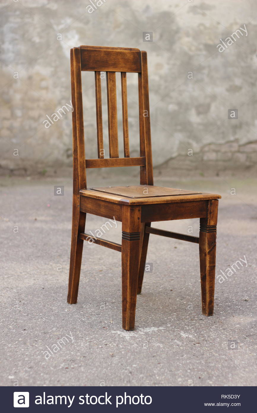 old chair antique wooden oak vintage furniture RK5D3Y