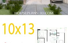 One Floor House Design Plans 3d Fresh House Design 10x13 With 3 Bedrooms Full Plans House Plans 3d